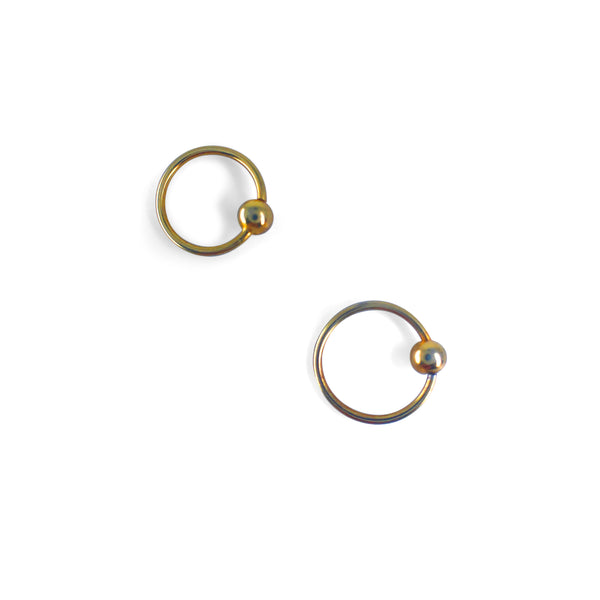 Orb on a Hoop Single Cartilage Earring