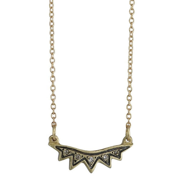 Grey Diamond Sunburst Necklace