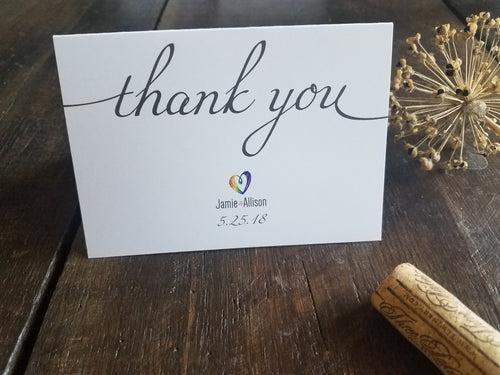 Wedding Thank You Notes /  Pride Wedding stationery / Wedding Thank You Cards / Wedding Personalized Stationery / Custom Stationary