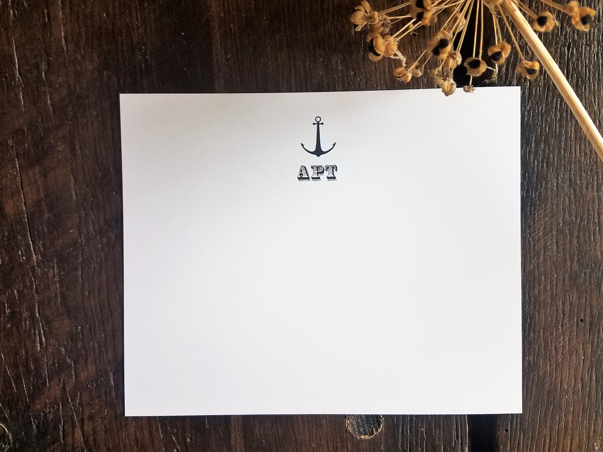 personalized flat cards monogram flat note cards nautical anchor personalized stationary set - Personalized Flat Note Cards