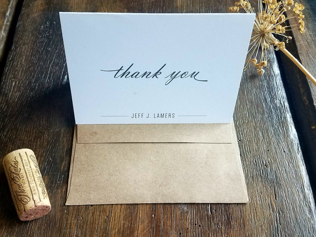 Personalized Note Cards / Modern Folded Note Cards / Personalized Thank You Cards / Personalized stationary set / Personalized gift