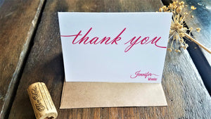 Personalized calligraphy stationary set / Memo Pad / Flat Cards / Thank You Cards / Stationery Set / Monogram / Personalized stationery / Script Stationery