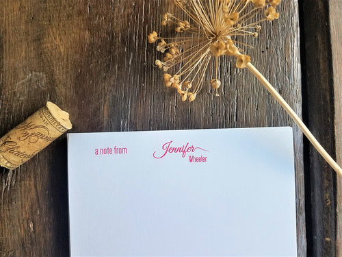 Personalized Notepad / Modern Memo Pad / Personalized Stationery / Monogrammed / Monogram Stationery / Personalized gift / Custom Stationery