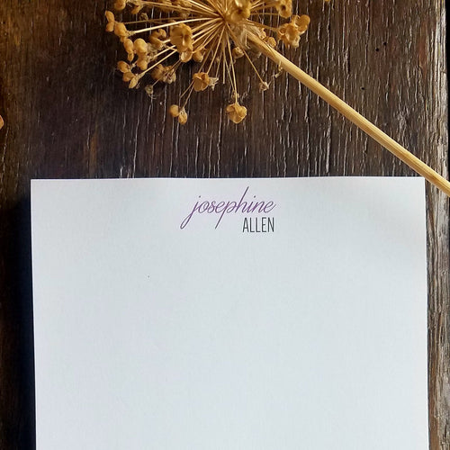 Personalized Notepad / Classic Memo Pad / Elegant Personalized Stationery / Personalized Stationary Pads / Wedding Stationary / Business Stationary / Custom Stationery