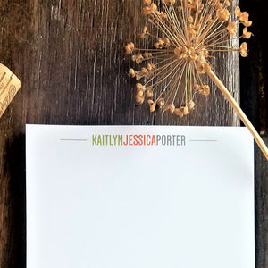 Personalized Modern stationary set / Memo Pad / Flat Cards / Thank You Cards / Stationery Set / Monogram / Personalized stationery / Gift