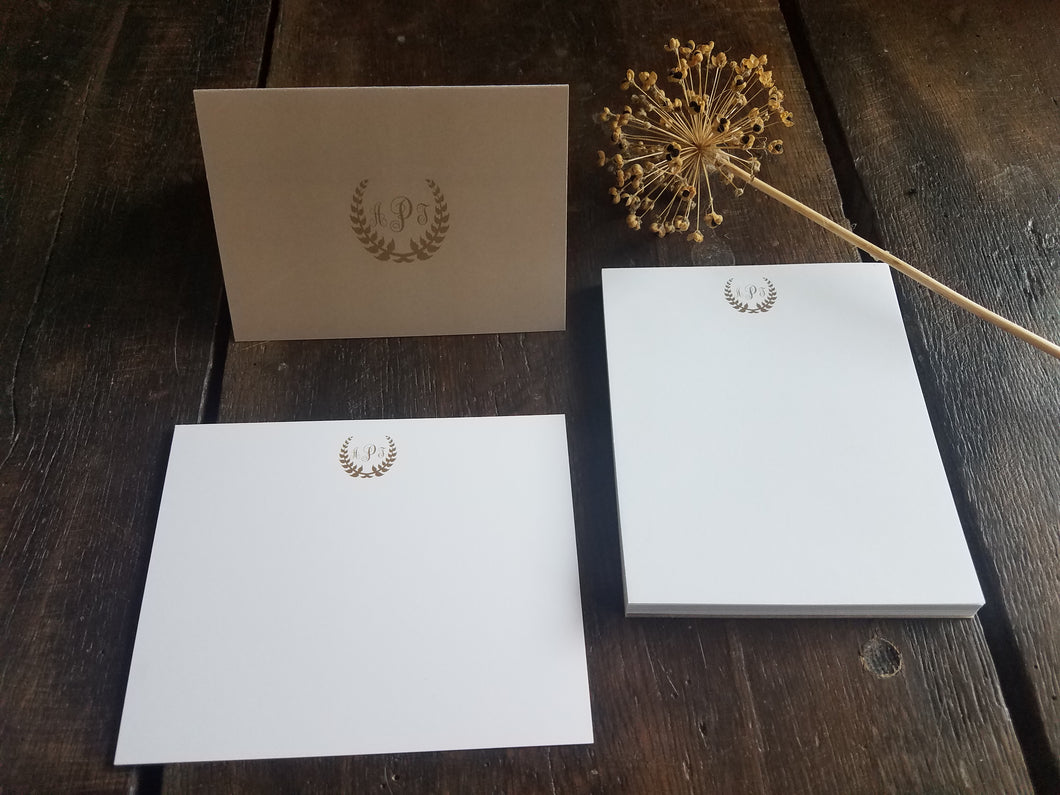 Monogram stationary set / Memo Pad / Flat Cards / Thank You Cards / Stationery Set / Monogrammed personalized stationery / Personalized Gift
