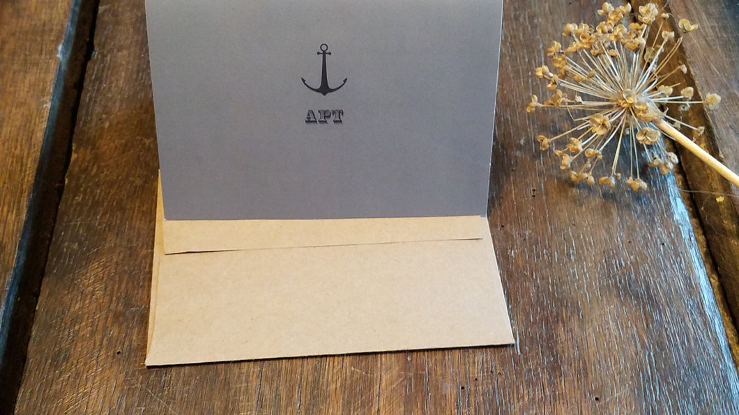 Personalized Note Cards / Anchor Monogram Folded Note Cards / Personalized Thank You Cards / Personalized stationary set / Monogrammed Stationery