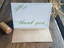 Personalized Note Cards / Modern Folded Note Cards / Personalized Thank You Cards / Personalized stationary set / Custom Bridesmaid gift