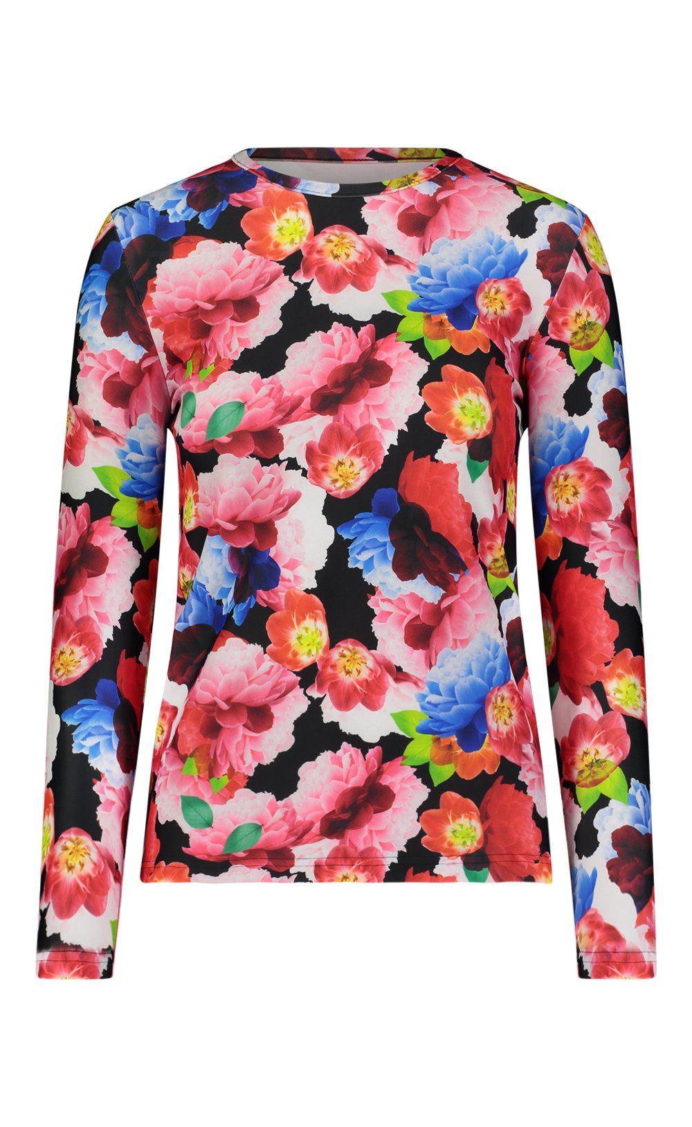 Long-Sleeved Swim T - Black French Floral