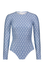 Long-Sleeved Swimsuit - Slate