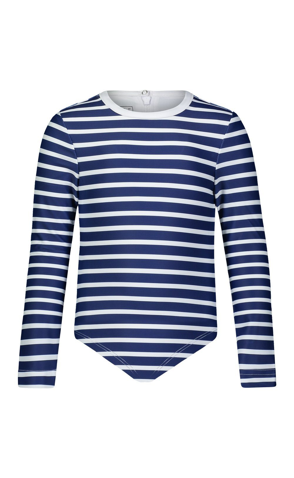 Cover Kids Long-Sleeved Swimsuit - Navy Stripes