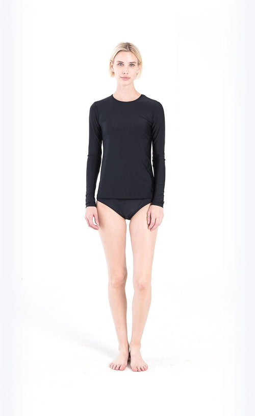 Long-Sleeved Swim T - Black