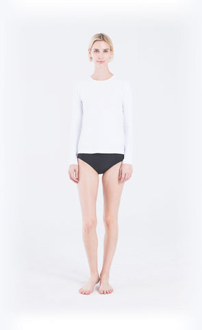 Scallop Cut Swim T - Black