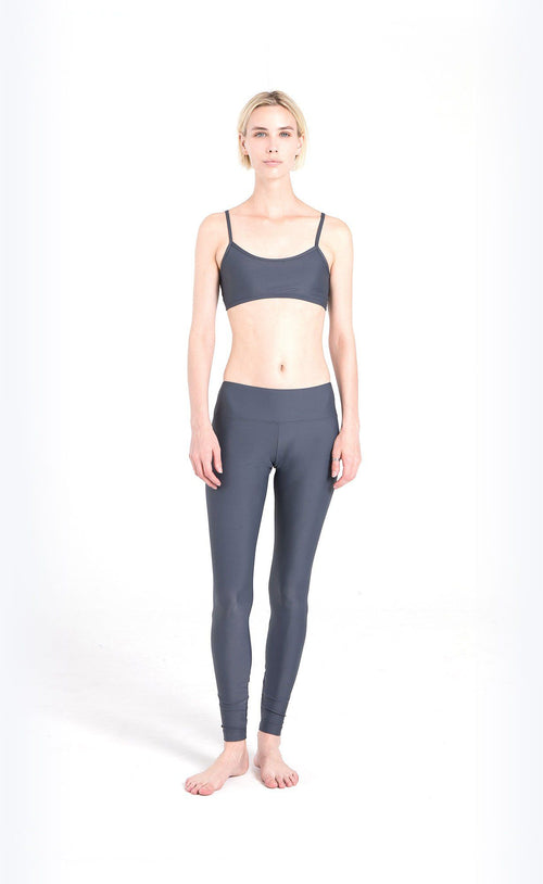 Swim Sports Bra + Swim Leggings - Grey