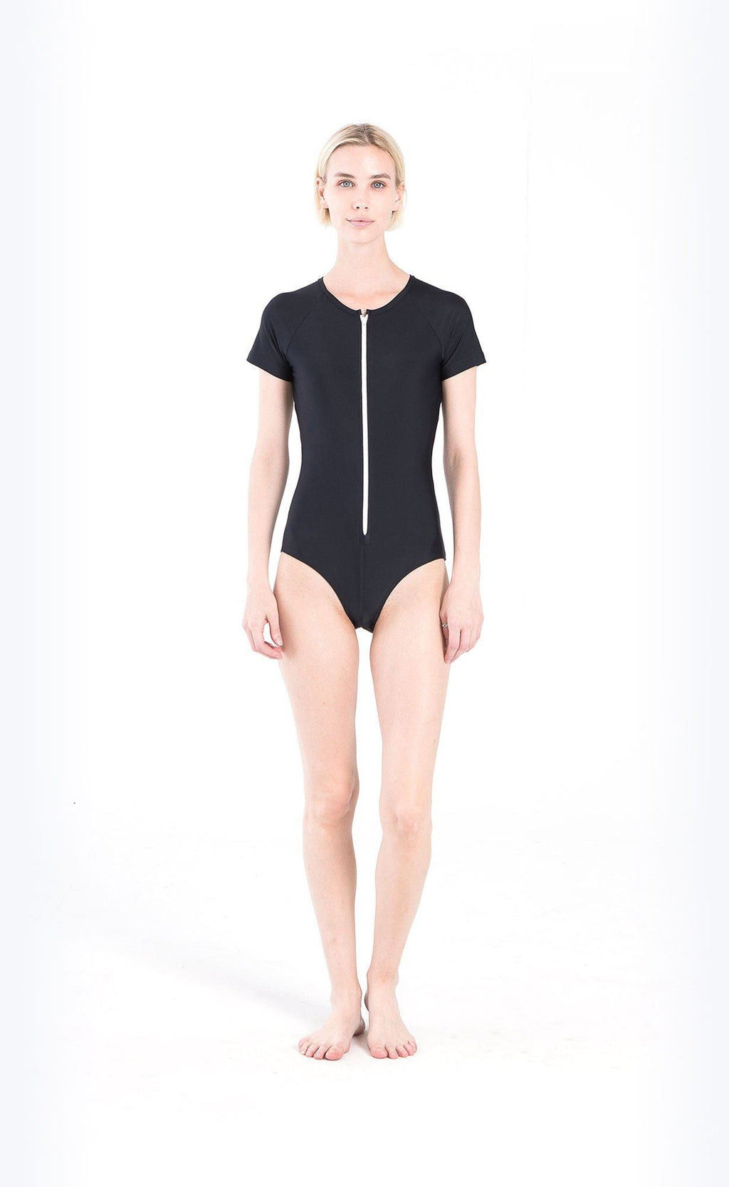 Short-Sleeved Swimsuit - Cover