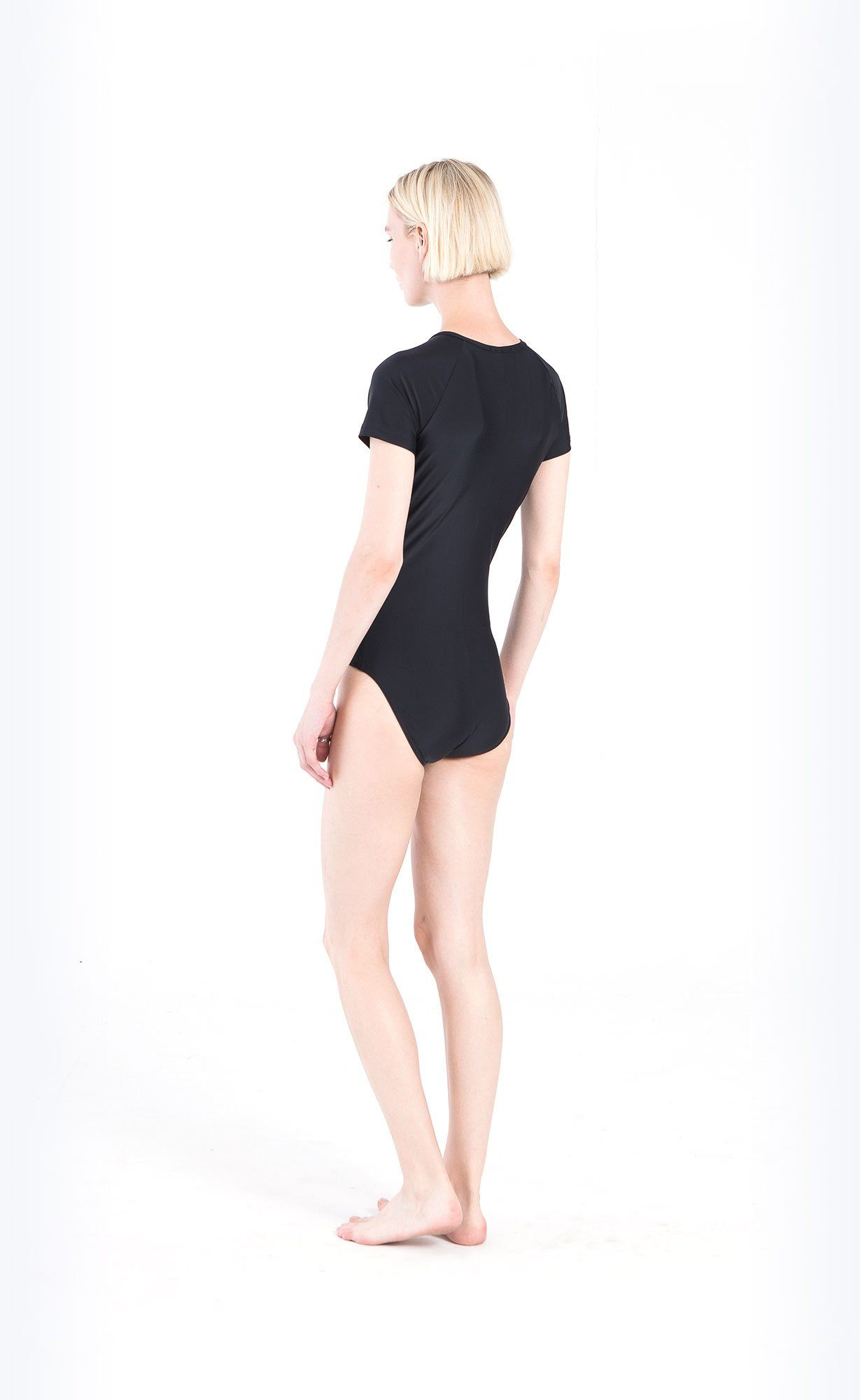 Short-Sleeved Swimsuit - Black