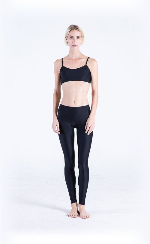 Swim Sports Bra + Swim Leggings - Black
