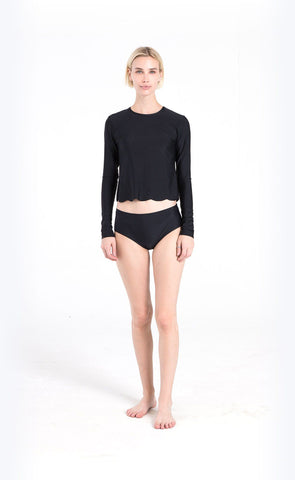 Long-Sleeved Swim T - Navy