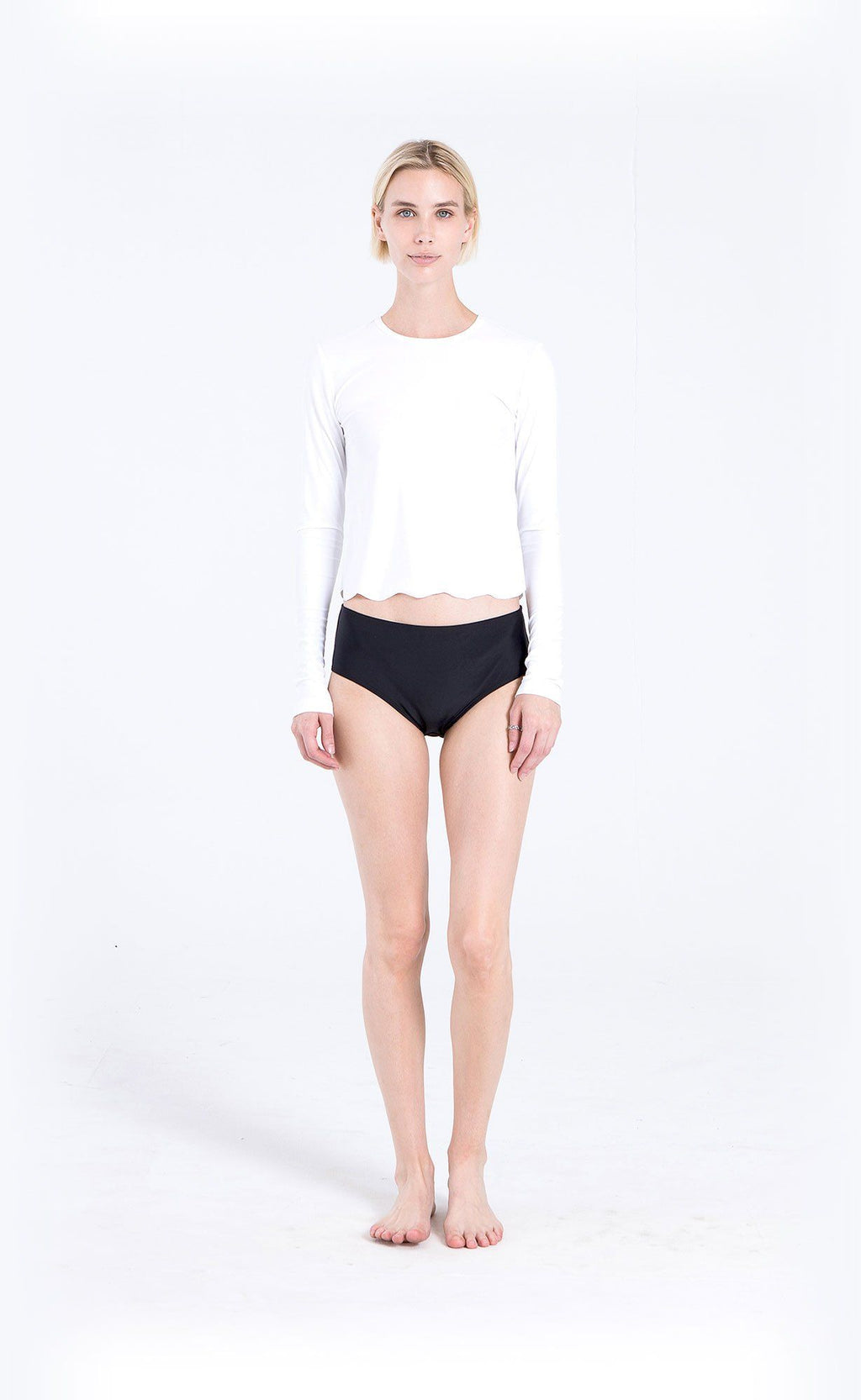 Scallop Cut Swim T-Shirt Swim T Cover Clothing
