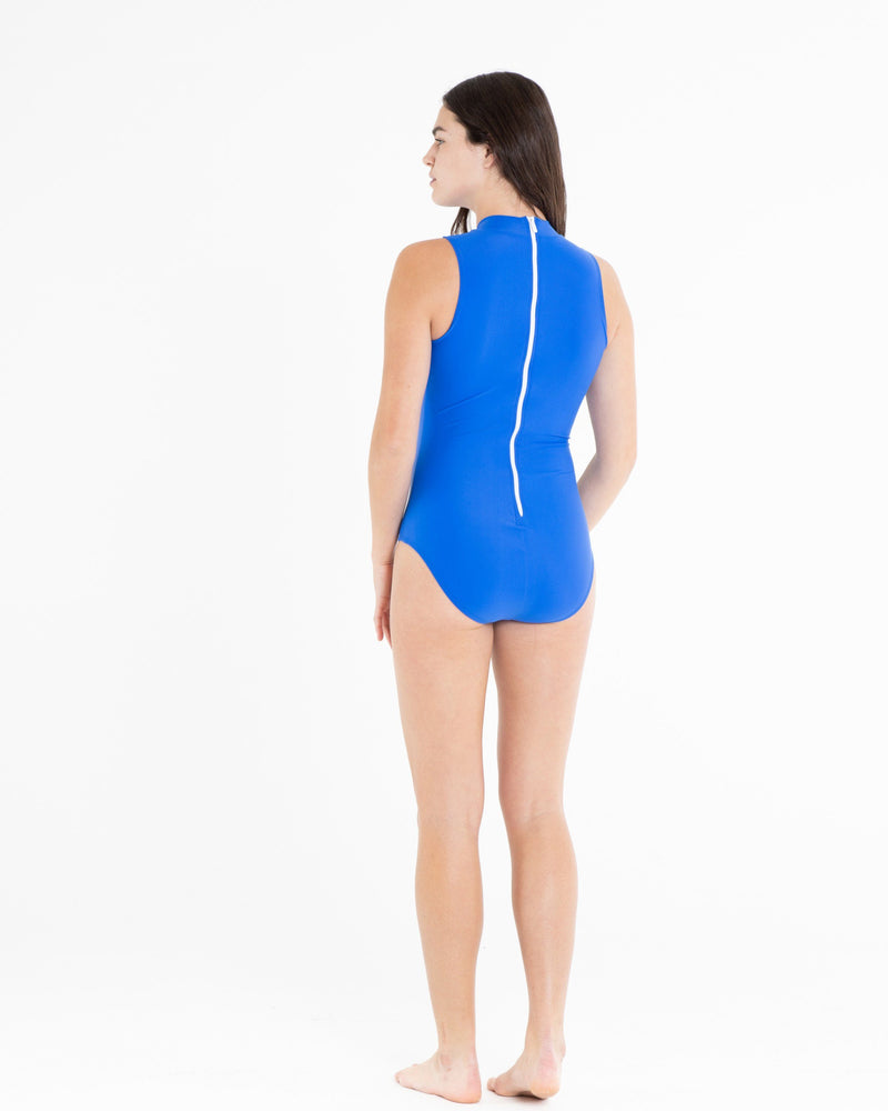 Sleeveless Mock-Neck Swimsuit - Cover Swim