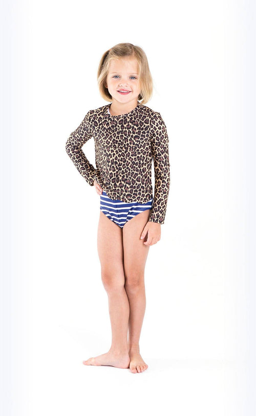 Cover Kids Scallop Cut Swim T - Leopard