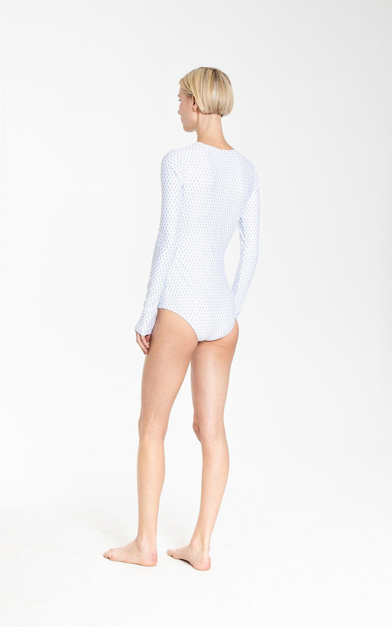 Long-Sleeved Front Zip Swimsuit - Cover Swim