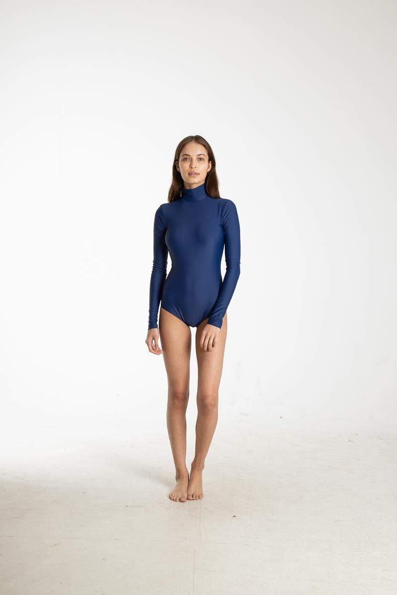 Long-Sleeved High-Neck Swimsuit One-Piece Cover Clothing