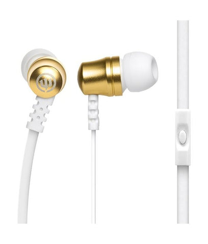 Wicked earphones in stylish white & gold