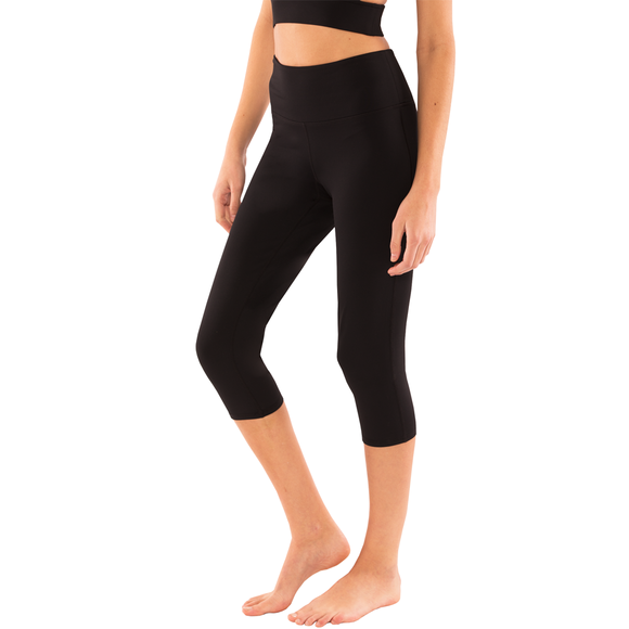 Mega-Cool Level Up Yoga Leggings High Waist Capri