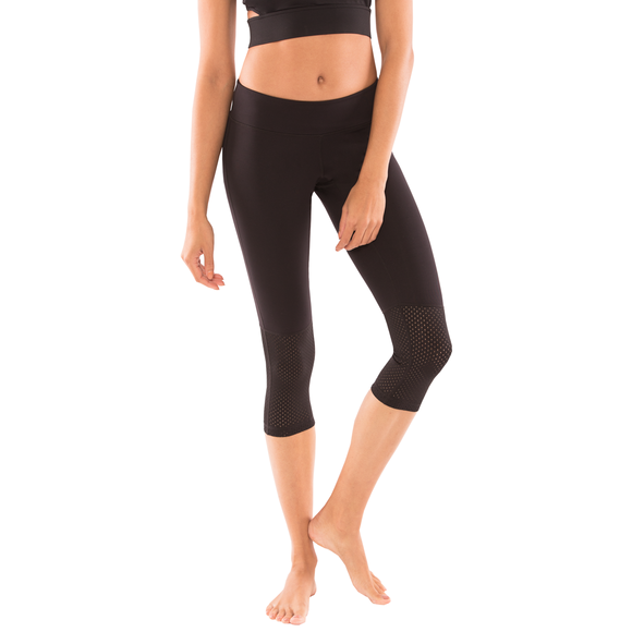 Zoe Mesh Yoga Leggings Capri