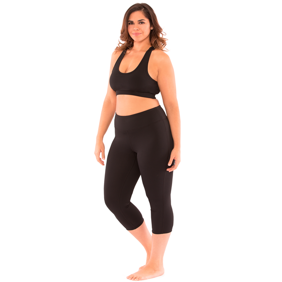 Plus Yoga Legging Confidence Capri - Essentials Collection