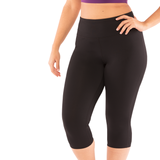 Mega-Cool Level Up Plus Yoga Leggings High Waist Capri