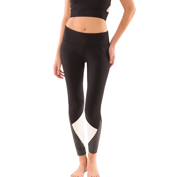 Diamond Colorblock Yoga Leggings