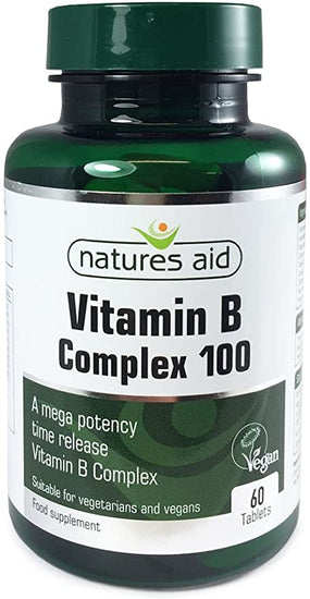 Natures Aid Vitamin B Complex 100mg 30 Caps - Fitness Factory