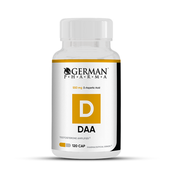German Pharma DAA - Testosterone Booster -120 Capsules