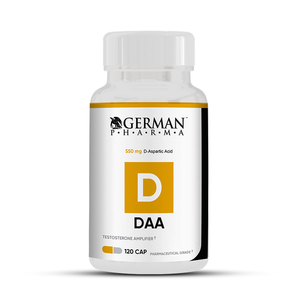 German Pharma DAA - Testosterone Booster -120 Capsules - Fitness Factory