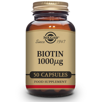 Solgar Biotin 1000ug 50 Vegetable Tablets - Fitness Factory