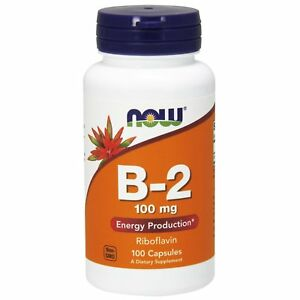 NOW Vit B-2 100 Cap - Fitness Factory