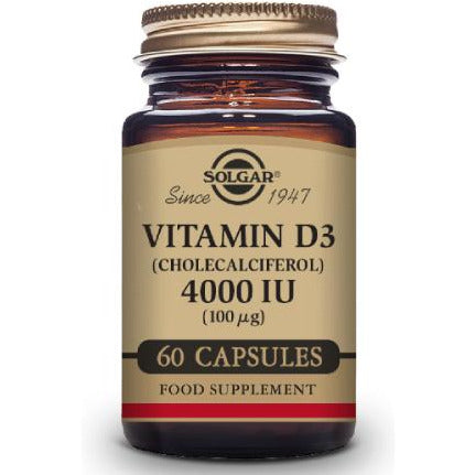 Vitamin D3 Cholecalciferol 4000 IU - 60 Vegetable Caps - Fitness Factory