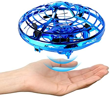 Mini Drone, Hand Free Operated Drone Helicopter Suspension Gesture Sensing Aircraft Self Flying Ball Drone Mini UFO Drone Toys for Kids and Adults