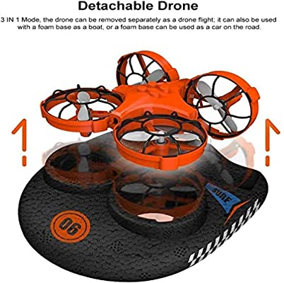 Mini Drone for Kids, Noetoy 3 in 1 RC Quadcopter Glider Plane Hovercraft with 2.4Ghz Remote Control 360°Flips Headless Mode, Christmas Birthday Gift for Boys Girls Kids