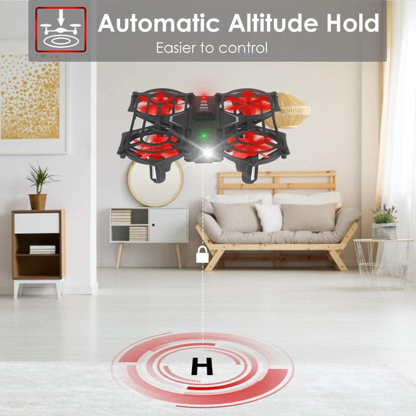 Portable Hand Drone RC Quadcopter with Remote Control, Circle Flying, Auto Hovering, 3D Flip, Speed Adjustment & Altitude Hold, Great Gift Toys for Boys & Girls
