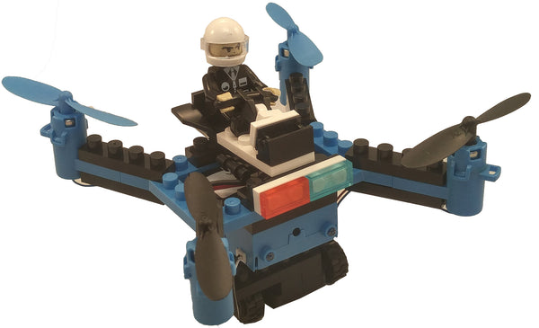 DIY Building Block Fly n Drive Police Drone