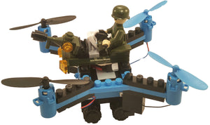 DIY Building Block Fly n Drive Army Drone