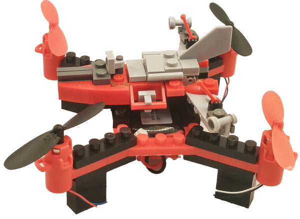 DIY Building Block Fly n Drive Space Racer Drone