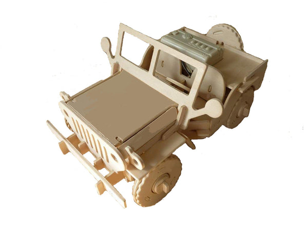 Robotic 3D Wooden Puzzle-Jeep
