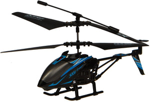 RC Helicopter K10 Sky Trooper 3.5 Channel Alloy Bodied - Black/Blue - Gyro Technology Offers Super Smooth Flight and Superb Control!