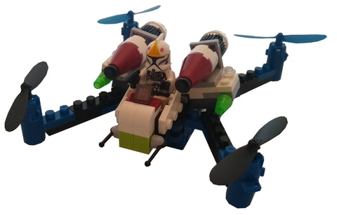 Space Fighters Building Block Drone - Command Shuttle