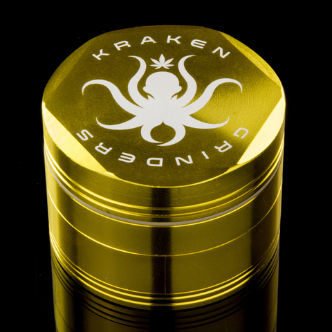 "Kraken 2.5"" Hex Ridge 4-Piece Grinder with Pollen Screen"
