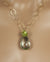 Gold Reversible Prasiolite and Peridot Handmade Artisan Necklace